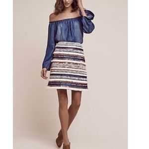 Anthropology Sequence Skirt